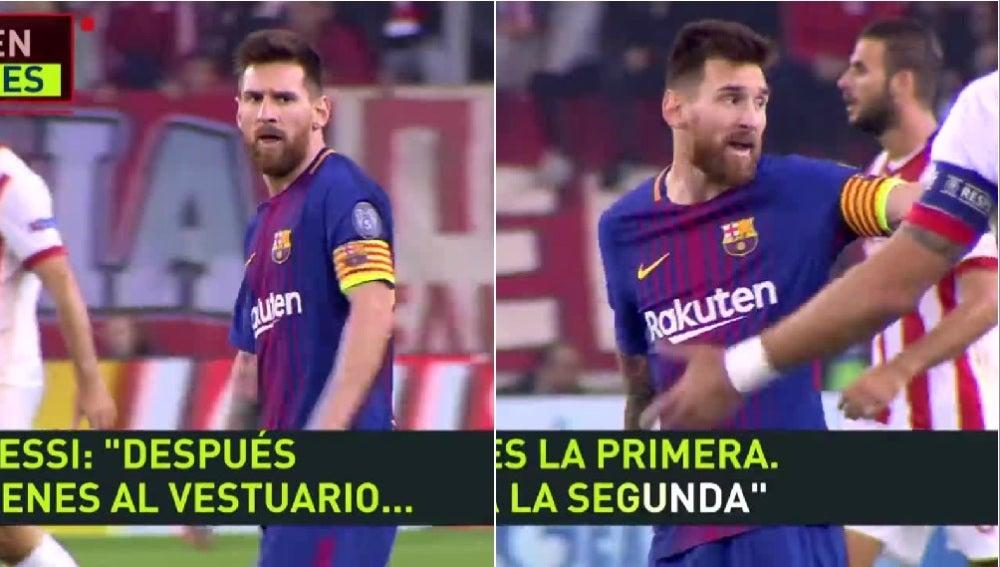 Leo Messi se encara con Botía