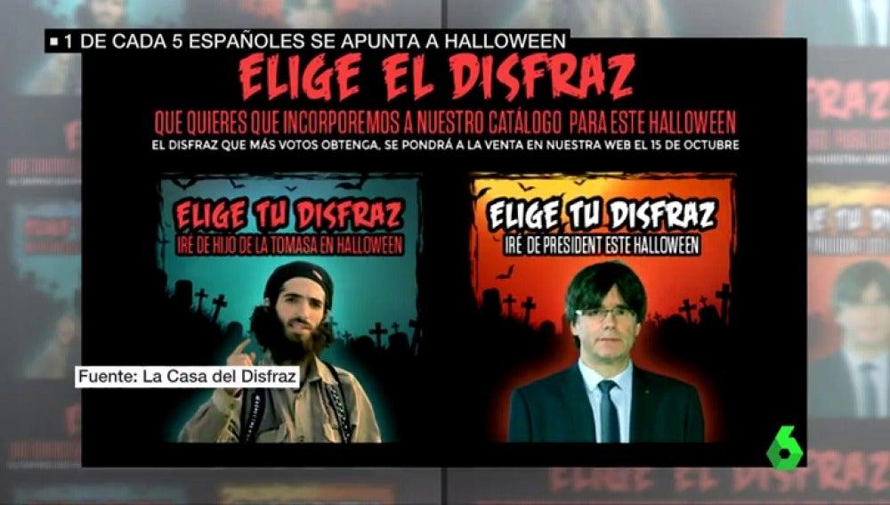 Desde Puigdemont hasta un millenial: uno de cada cinco españoles ya se disfraza en Halloween