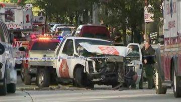 El vehículo que ha sido utilizado en el atentado