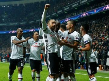 El Besiktas celebra un gol