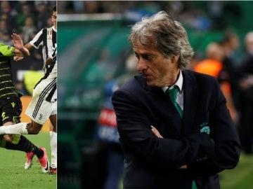 Jorge Jesús, técnico del Sporting, y Coentrao