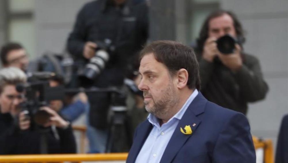 Oriol Junqueras llega a la Audiencia Nacional para declarar