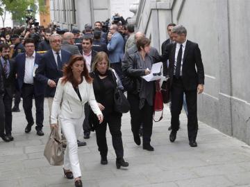 Llegada al Supremo de miembros de la Mesa del Parlament