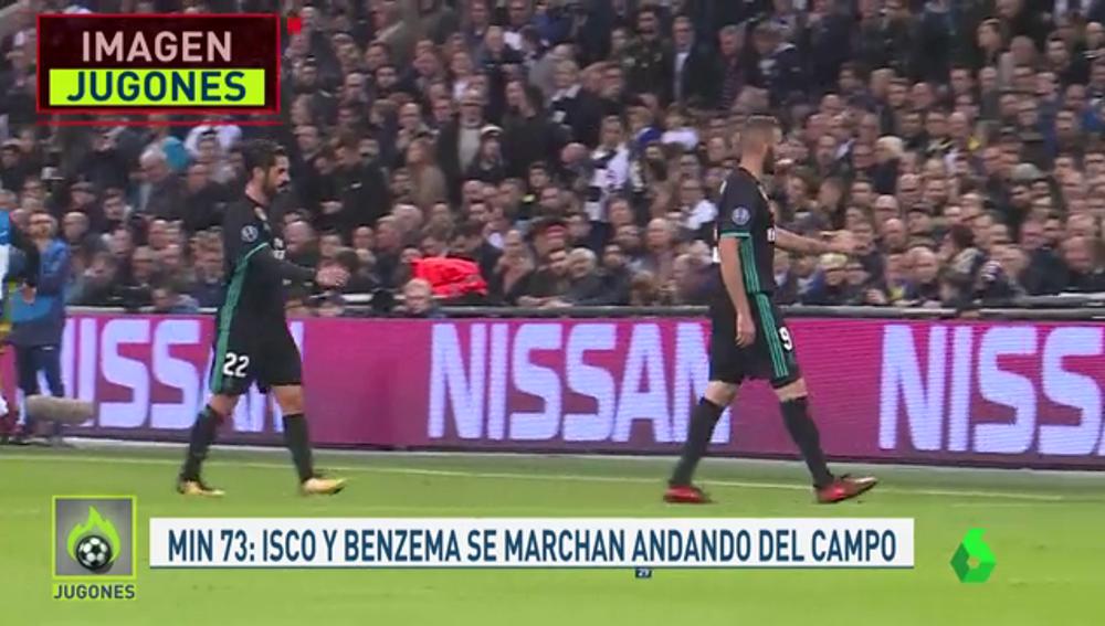 Isco y Benzema se retiran andando cuando pierden 3-0