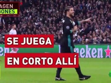 El sufrimiento de Ramos durante el partido en Wembley