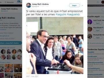 Twitter de Josep Rull