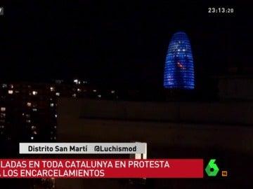 Cacerolada en Barcelona