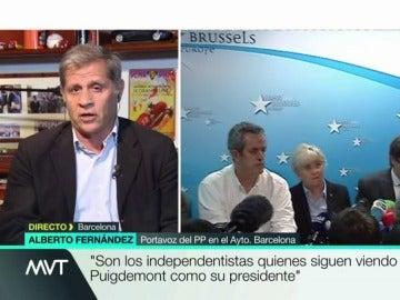 Alberto Fernandez, portavoz del Partido Popular en el Ayuntamiento de Cataluña