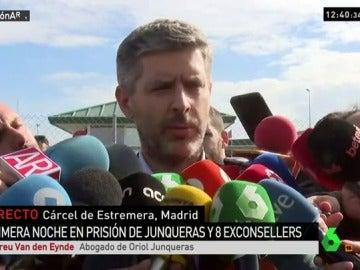 Van den Eynde, al abogado de Oriol Junqueras