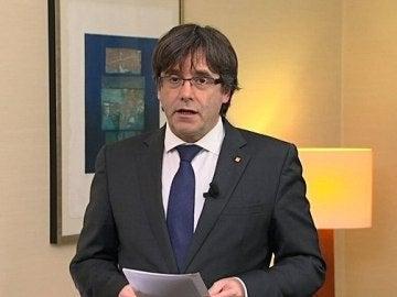 Carles Puigdemont tras el encarcelamiento de Junqueras y varios exconsellers