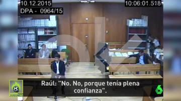 Declaración de Raúl González ante el juez