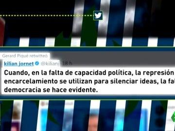 """El tuit de Kilian Jornet sobre """"represión y cárcel"""" que Gerard Piqué hizo suyo"""