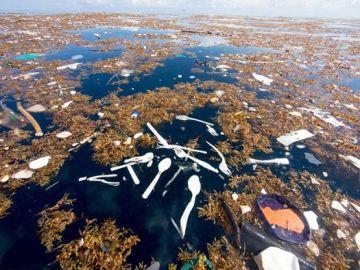 Imagen de la contaminación en el mar