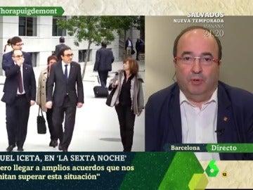 Miquel Iceta, líder del PSC, en laSexta Noche