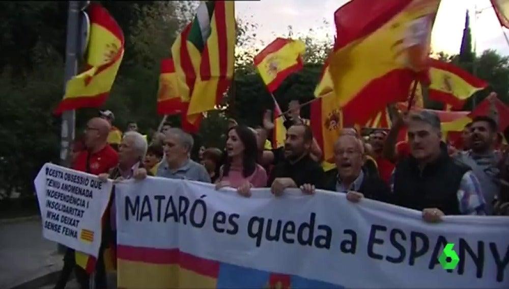 Manifestación por la unidad de España en Mataró