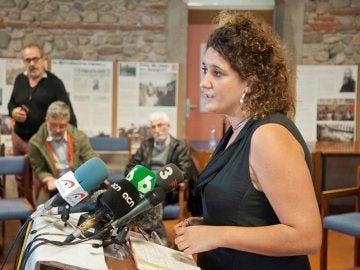 La portavoz de la CUP, Nuria Gibert