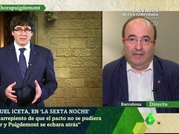 Miquel Iceta, en laSexta Noche
