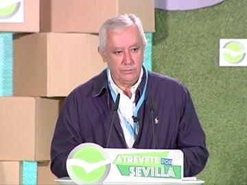 Javier Arenas durante un acto electoral