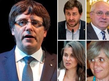 Puigdemont y los cuatro exconsellers huidos a Bruselas
