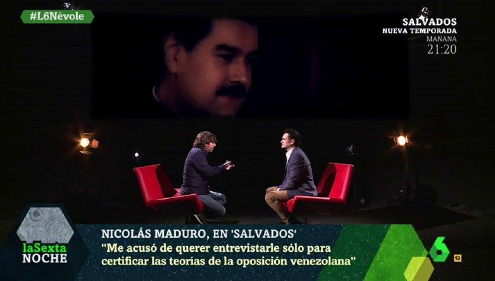 Jordi Évole habla en laSexta Noche sobre la entrevista a Nicolás Maduro