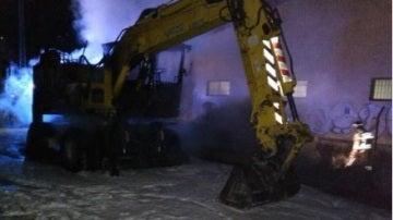 Imagen de archivo de una excavadora