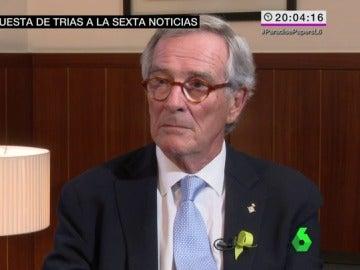 Xavier Trias habla con Joaquin Castellon