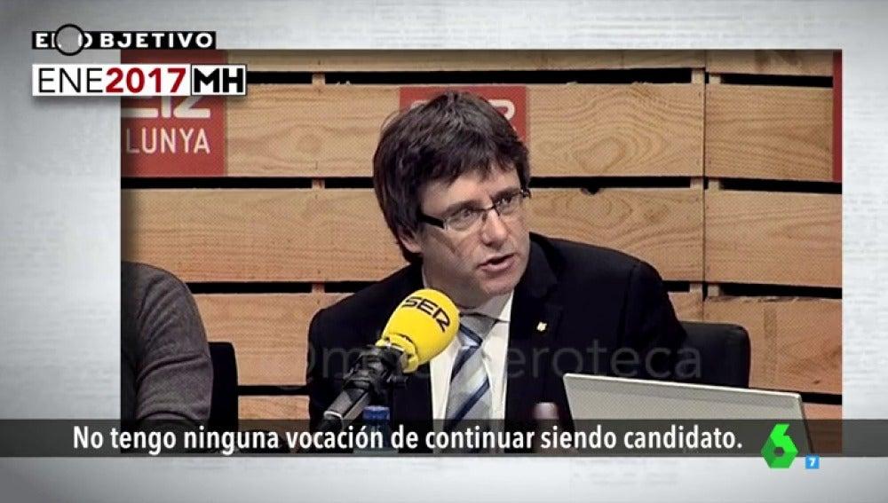 Carles Puigdemont durante una entrevista en la cadena SER