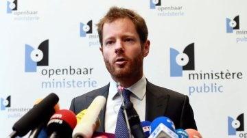 Gilles Dejemeppe, portavoz de la Fiscalía de Bruselas