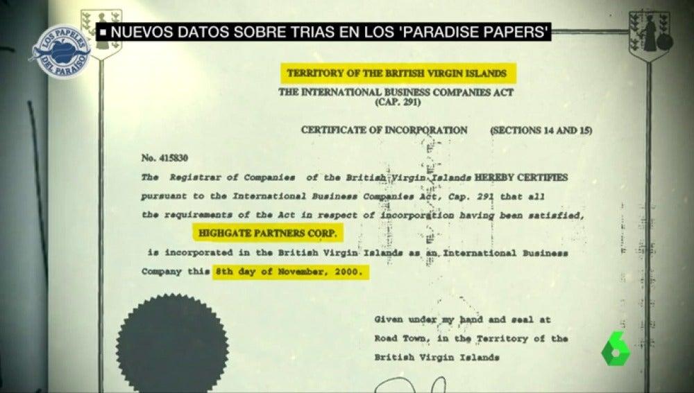 El exalcalde de Barcelona está vinculado a una sociedad comercial en las Islas Vírgenes Británicas