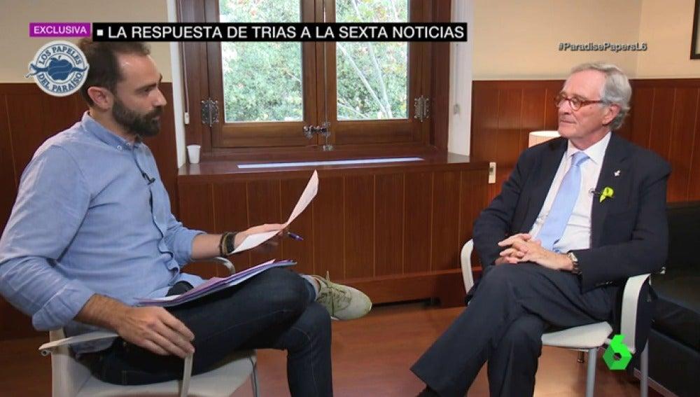 """La respuesta de Xavier Trias a laSexta después de que aparezca vinculado a una estructura offshore: """"No tengo ni idea de lo que me habla"""""""
