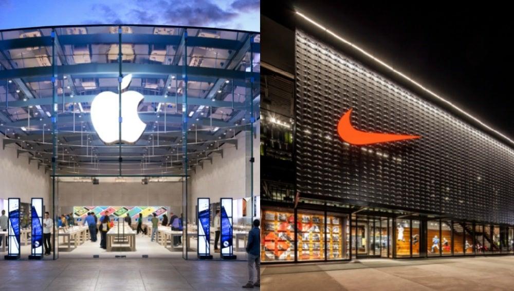 Tiendas de Apple y Nike
