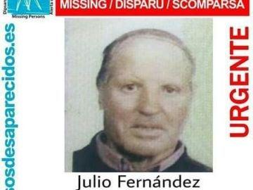 Julio Fernández, nonagenario desaparecido en Ourense