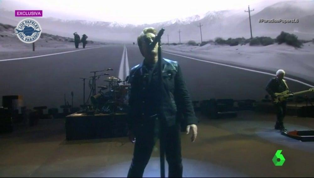 El cantante irlandés Bono