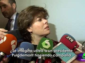 El zasca de Soraya Sáenz de Santamaría a Carles Puigdemont