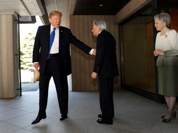 Donald Trump y el Emperador Akihito