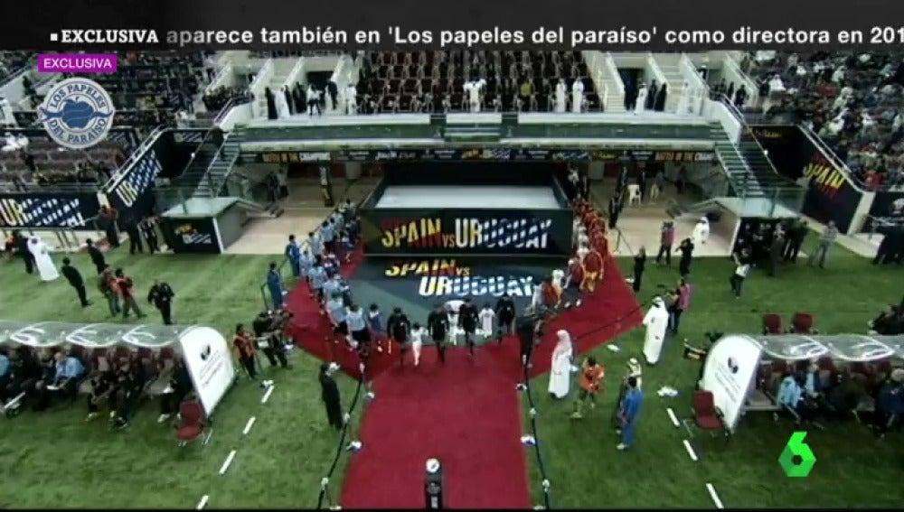 El amistoso entre la Selección Española y Uruguay de 2013 se organizó a través de una sociedad offshore