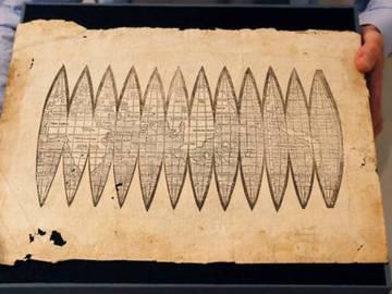Primer mapa de la historia en el que aparece el nombre de América de Martin Waldseemüller