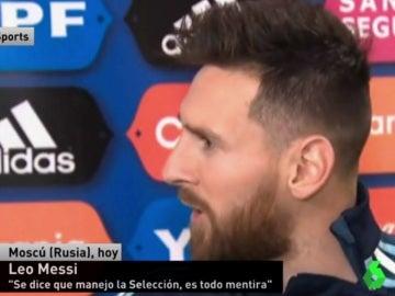 Leo Messi, delantero de Argentina