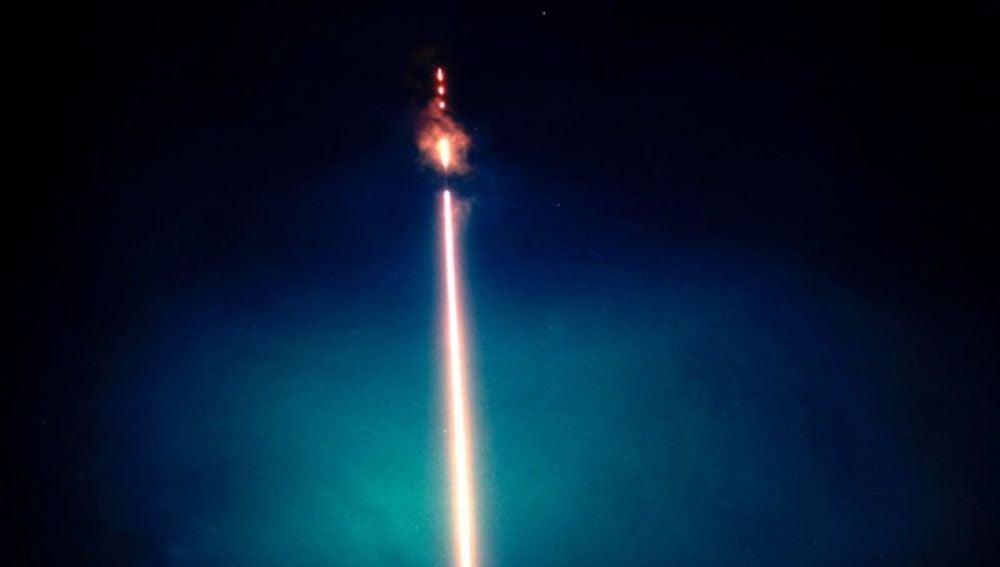 Imagen de una prueba nuclear realizada por EEUU en el espacio en los 60