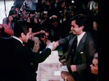 Adolfo Suárez en las elecciones de 1977