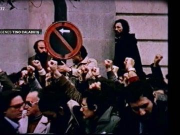 Manifestación contra la violencia criminal en 1977