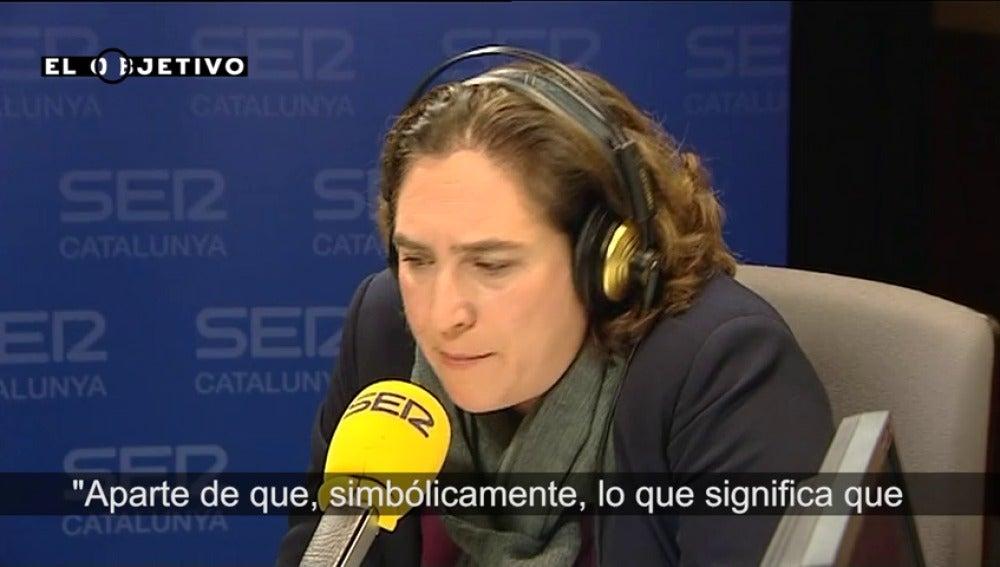 """Ada Colau: """"El PP es la última fuerza electoral de Cataluña"""""""