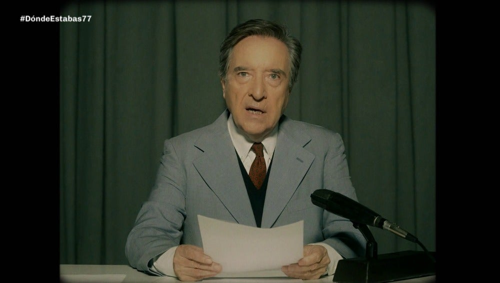 Iñalki Gabilondo en un informativo de 1977