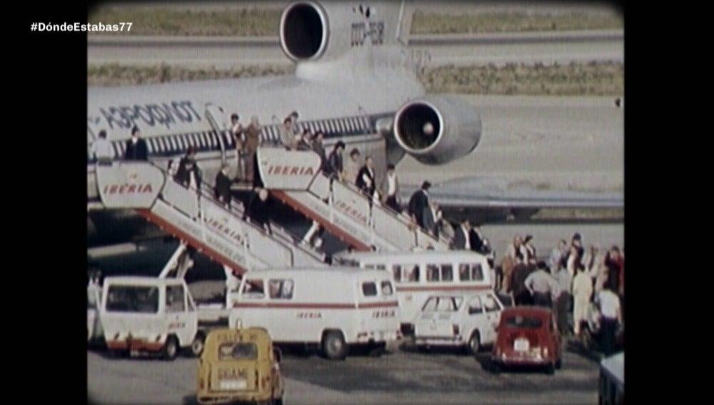 Regreso de los exiliados por el franquismo en 1977