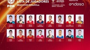 Lista de España para jugar ante Montenegro y Eslovenia