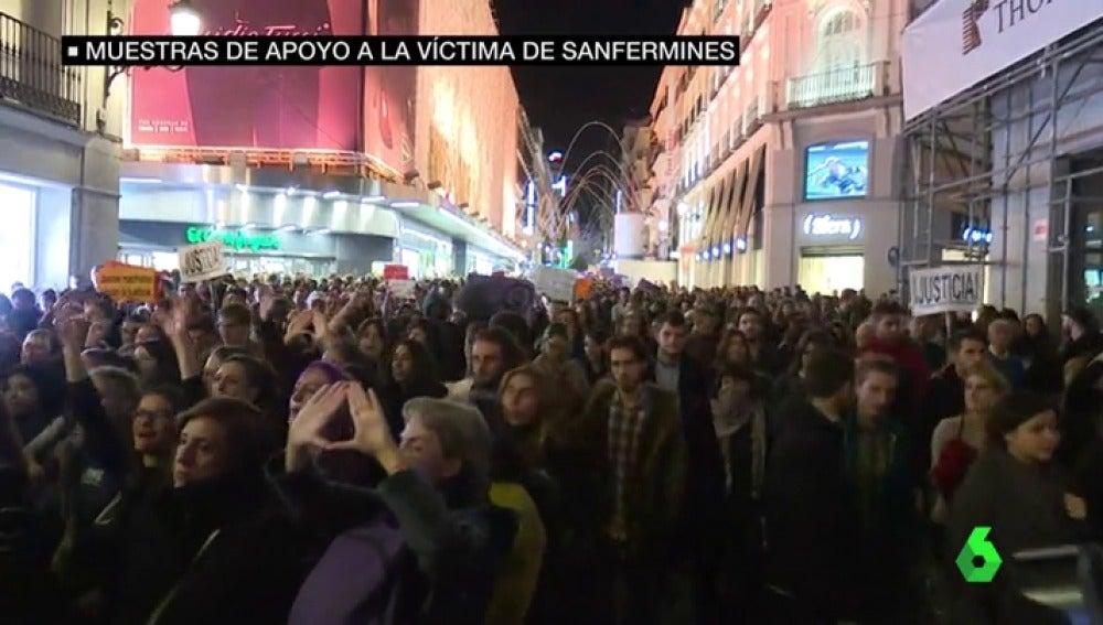 Concentración de respaldo a la víctima de San Fermín