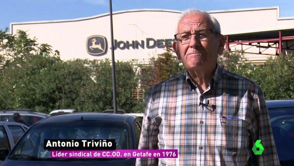 Antonio Triviño, líder sindical de CCOO en Getafe en 1976