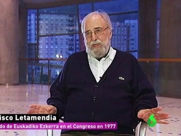 Francisco Letamendia, diputado de Euskadiko Ezkerra en 1977