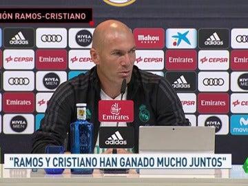 """Zidane: """"Cristiano y Ramos se respetan muchísimo, las cosas se arreglan y ya están arregladas"""""""