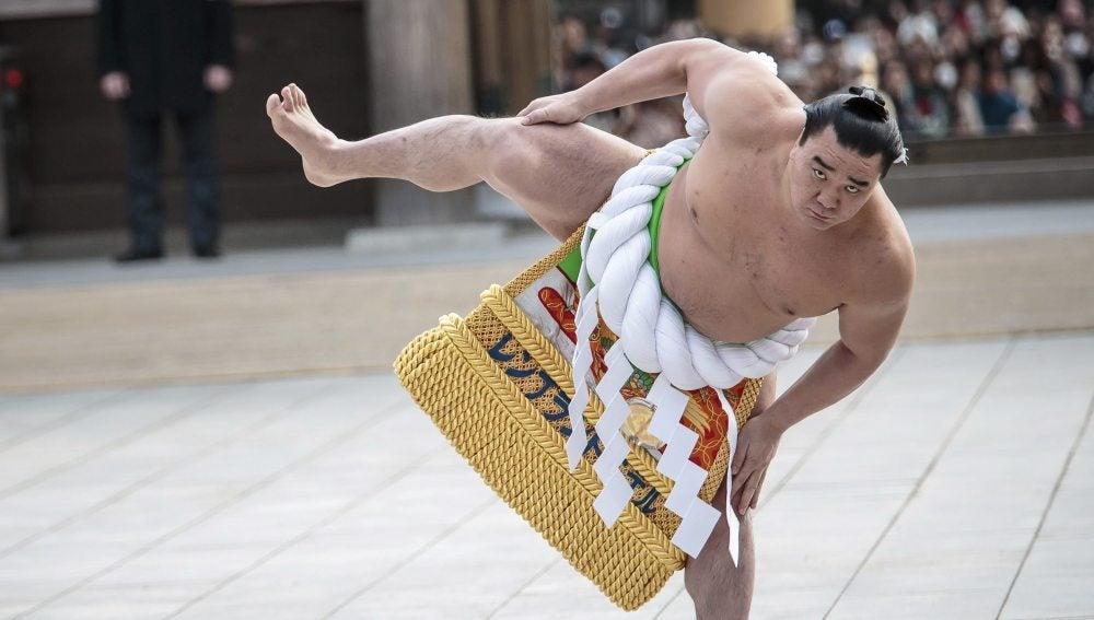 El campeón de sumo Harumafuji Kohei.